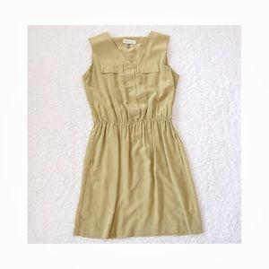 Amour Vert green silk Sheath Dress Sz Small